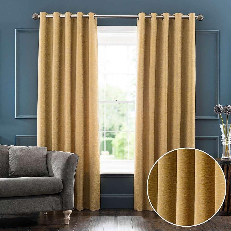 Sarasota yellow jacquard eyelet curtains dunelm living rooms and