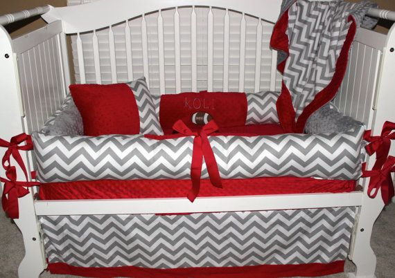 Ohio State Custom Baby Bedding 6 Pc Set With Football