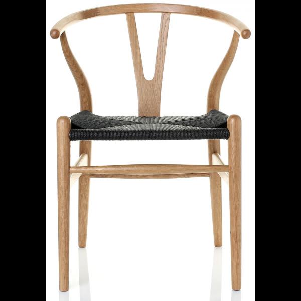 CH24 Chair Black wishbone chair, Wishbone chair, Wood chair