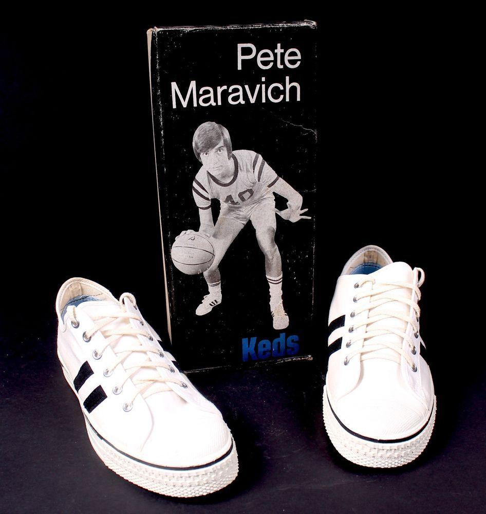 e2da0952aece1 Vintage 70's Keds Pistol Pete Maravich Sneakers on ebay. Still new ...