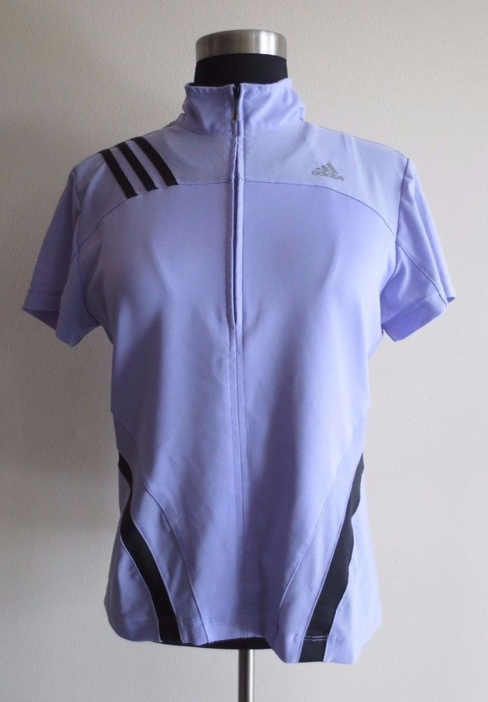 4e0a166ad7a8 Womens Light Purple Adidas 1 4 Zip Climacool Pullover Top Built in Sports  Bra M  adidas  ShirtsTops