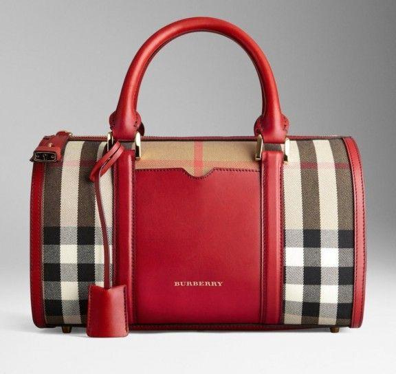 f56ac90402 Borse Burberry - Bauletto check rosso - - #bags #bag #red | Fashion ...