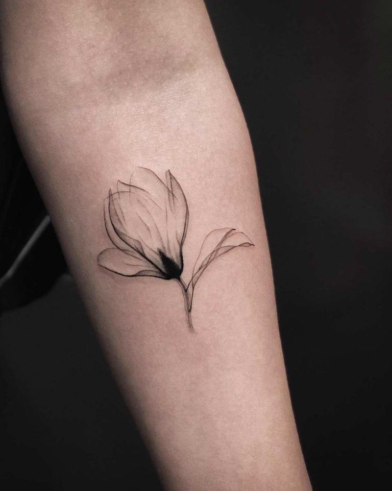 An X Ray Magnolia By Jakub Nowicz Ink Girly Tattoos Tattoo