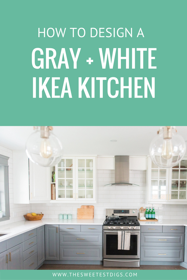 A Gray and White IKEA Kitchen Transformation | White ikea kitchen ...