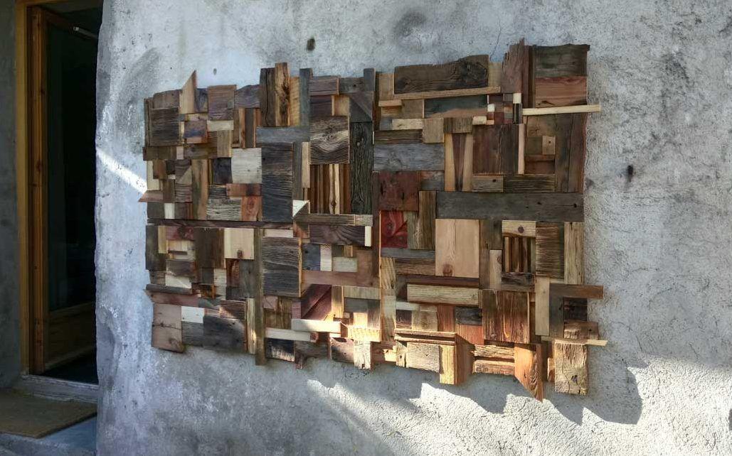 tableau d coratif en vieux bois une d co murale moderne. Black Bedroom Furniture Sets. Home Design Ideas