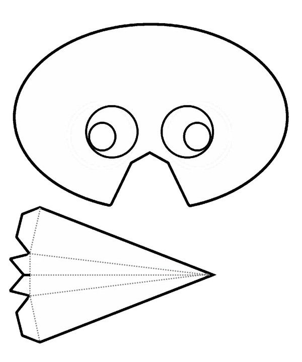 Gabarit masque oiseau carnaval masques carnaval mascaras et antifaz - Masque canard a imprimer ...