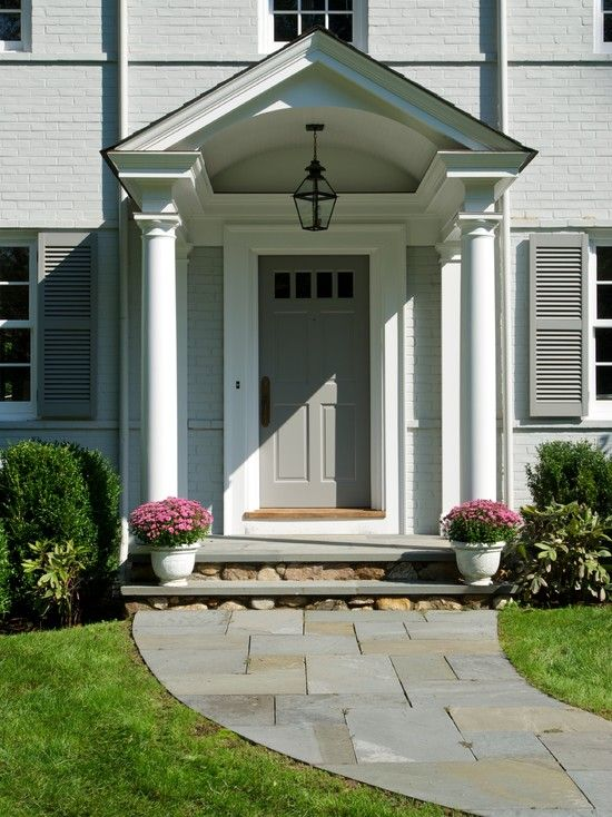 Contemporary front stoop design pictures remodel decor for Front door stoop ideas