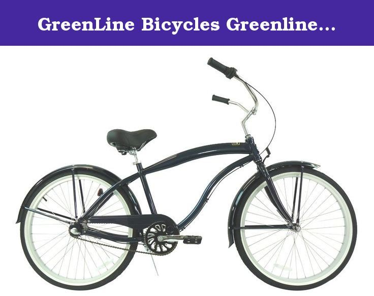 Greenline Bicycles Greenline Men 26 Aluminum 3 Speed Beach Cruiser Midnight Blue With Silver Greenline Men 26 Aluminum F Bicycle Beach Cruiser Cruiser Bike