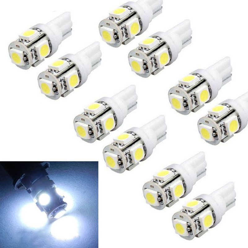 10pcs T10 White LED 194 168 SMD W5W Car Wedge Side Light Bulb Lamp Accessories