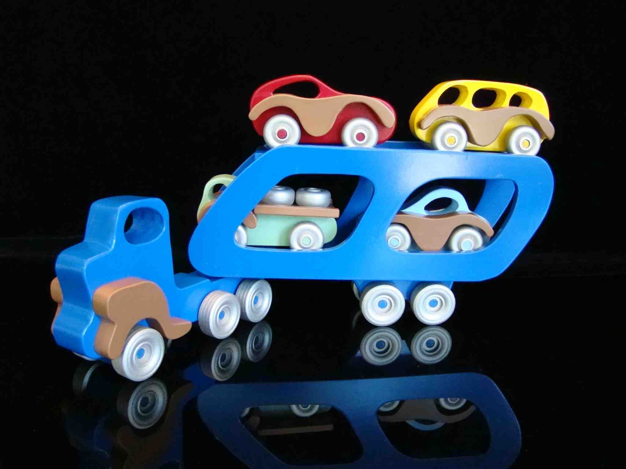 Car toys for girls  Handmade Wooden Toy CarEasy Basics Car Carrier Semi Tractor