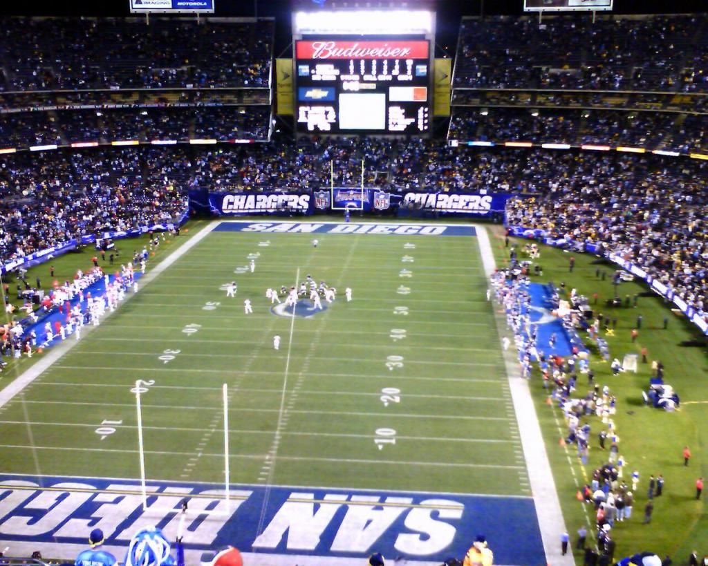 Qual Comm Stadium Home Of The San Diego Chargers San Diego Chargers Qualcomm Stadium Los Angeles Chargers
