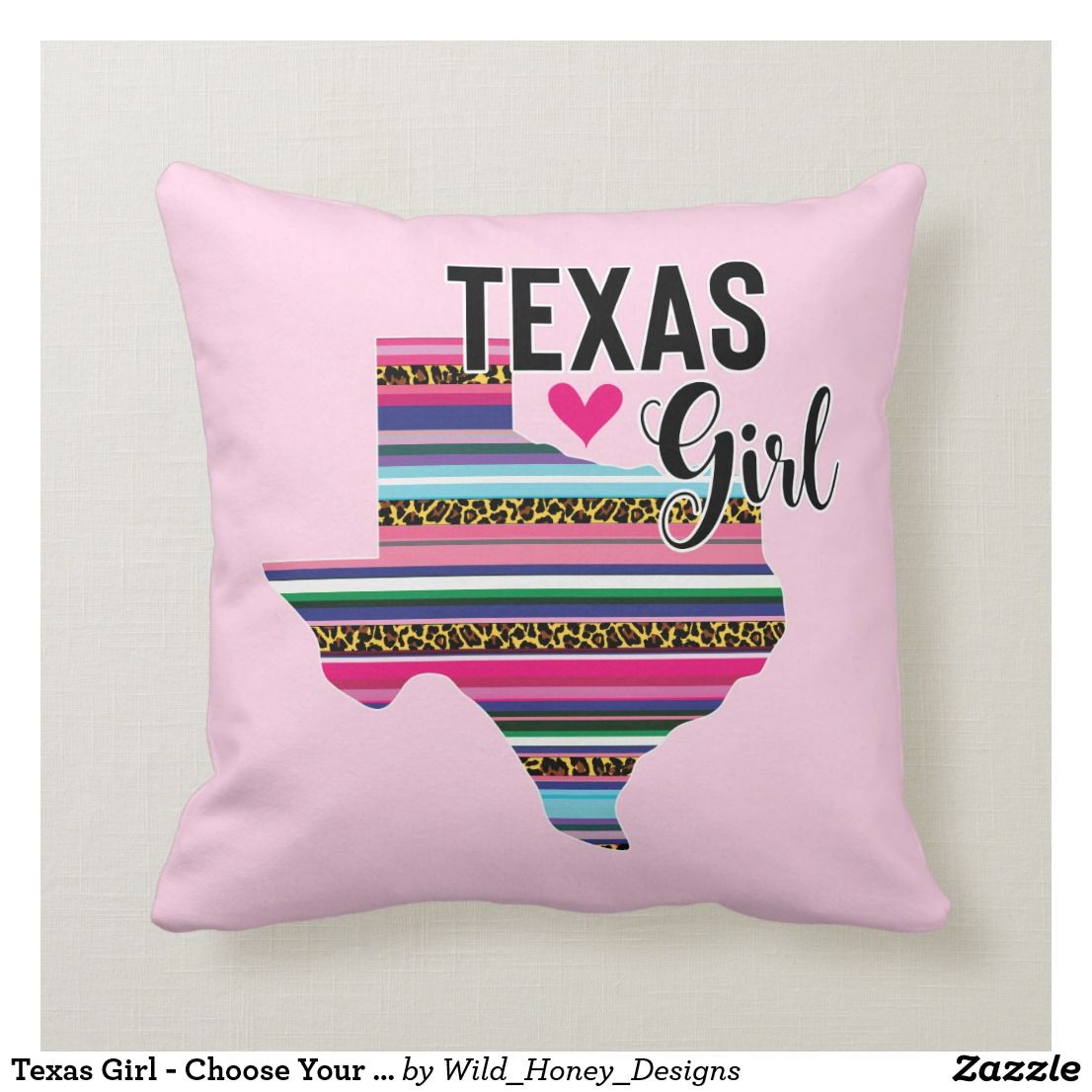 Texas Girl Choose Your Own Color Personalize! Throw