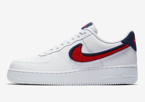 finest selection 9d9a1 4a979 Nike Air Force 1 Femme Blanc Bleu Rouge 823511-106