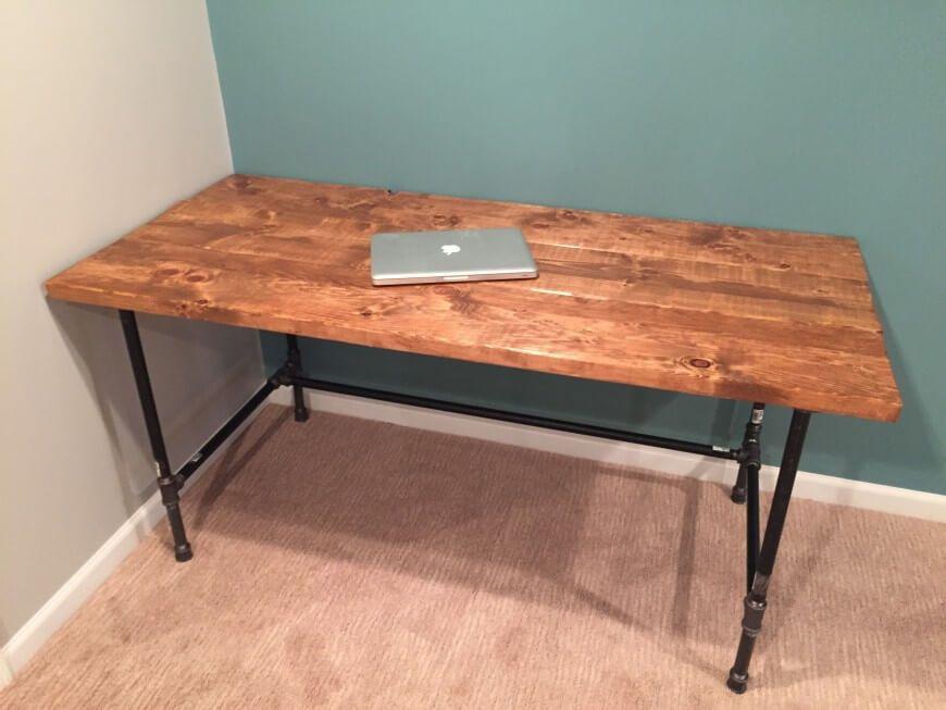 Diy How To Build A Desk Diy Wood Desk Diy Desk Plans Diy