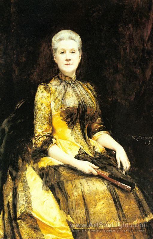 A Portrait of Mrs James Leigh 1886 - Raimundo Madrazo - oil painting