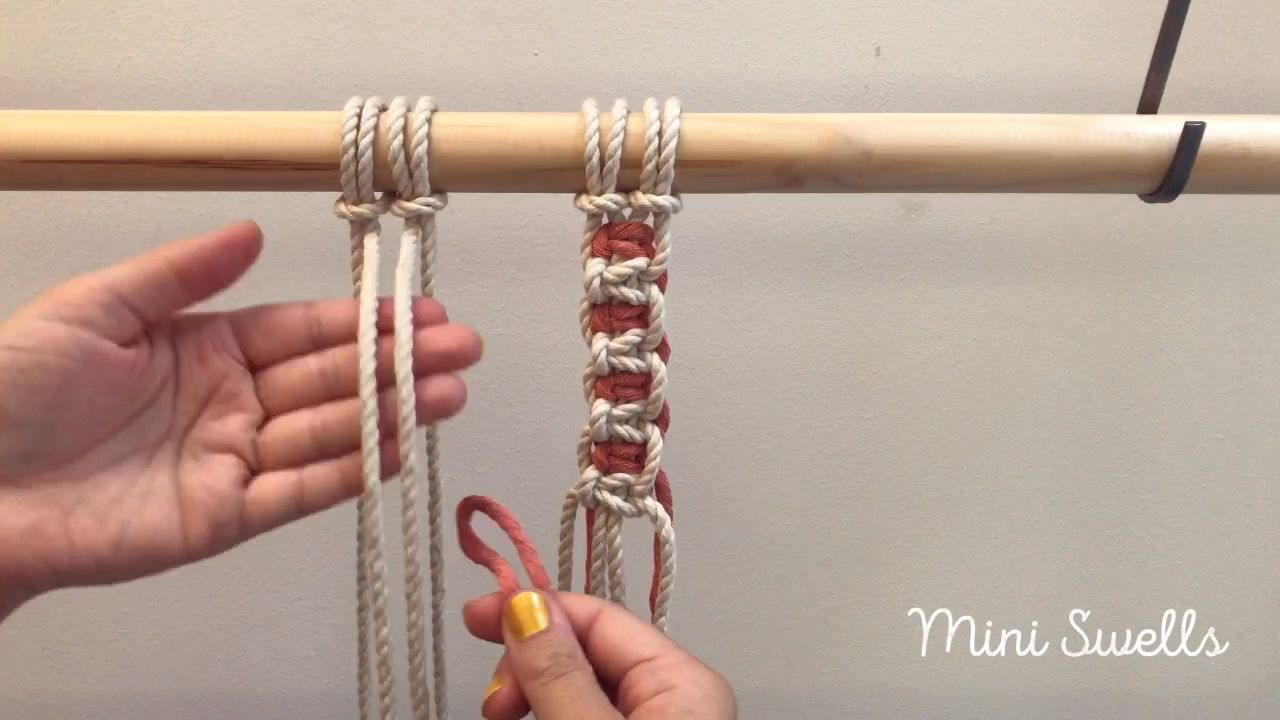 Best 12 A fun and easy way to add a different cord color to your macramé project. For more inspiration or fiber art supplies check out our shop. #macrame #macrameknots #macrametutorial #macramepatterns #macramelove #diycrafts #macrameart #macrameartist #macrameplanthanger