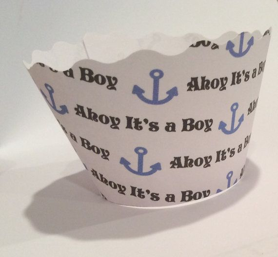 Hey, I found this really awesome Etsy listing at https://www.etsy.com/listing/203328160/ahoy-its-a-boy-cupcake-wrappers-baby