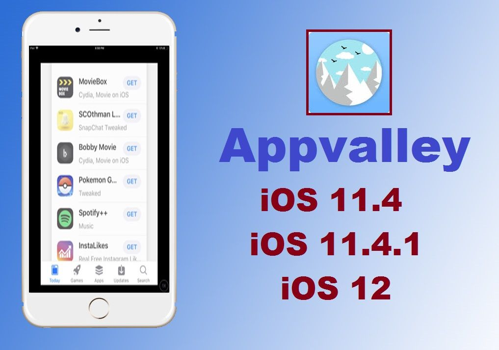 appvalley download for iOS 11 4, iOS 11 4 1 and iOS 12