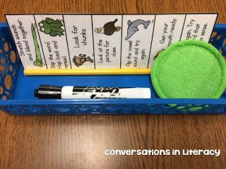 It's all about them chunks! Or at least for some of my reading groups it is! One important step in reading strategies is being able to see words in chunks and not individual sounds. So we have a LO
