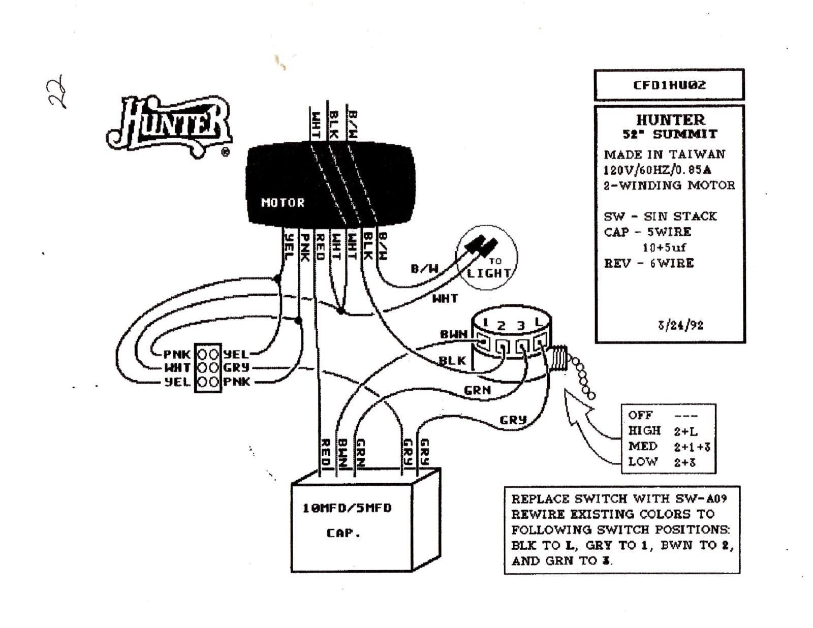 Ceiling Fan Motor Schematic Wiring Diagram