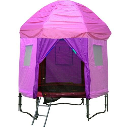 Just got one of these for my two lil girls birthday...... so cool and a great idea to protect the girls from sun and the trampoline for the Australian conditions.... can take the side off and just have the top on like a sun shade...... love this ♡♡