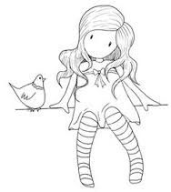 Gorjuss Santoro Stamps clipart and coloring pages - Google Search ... | 211x188