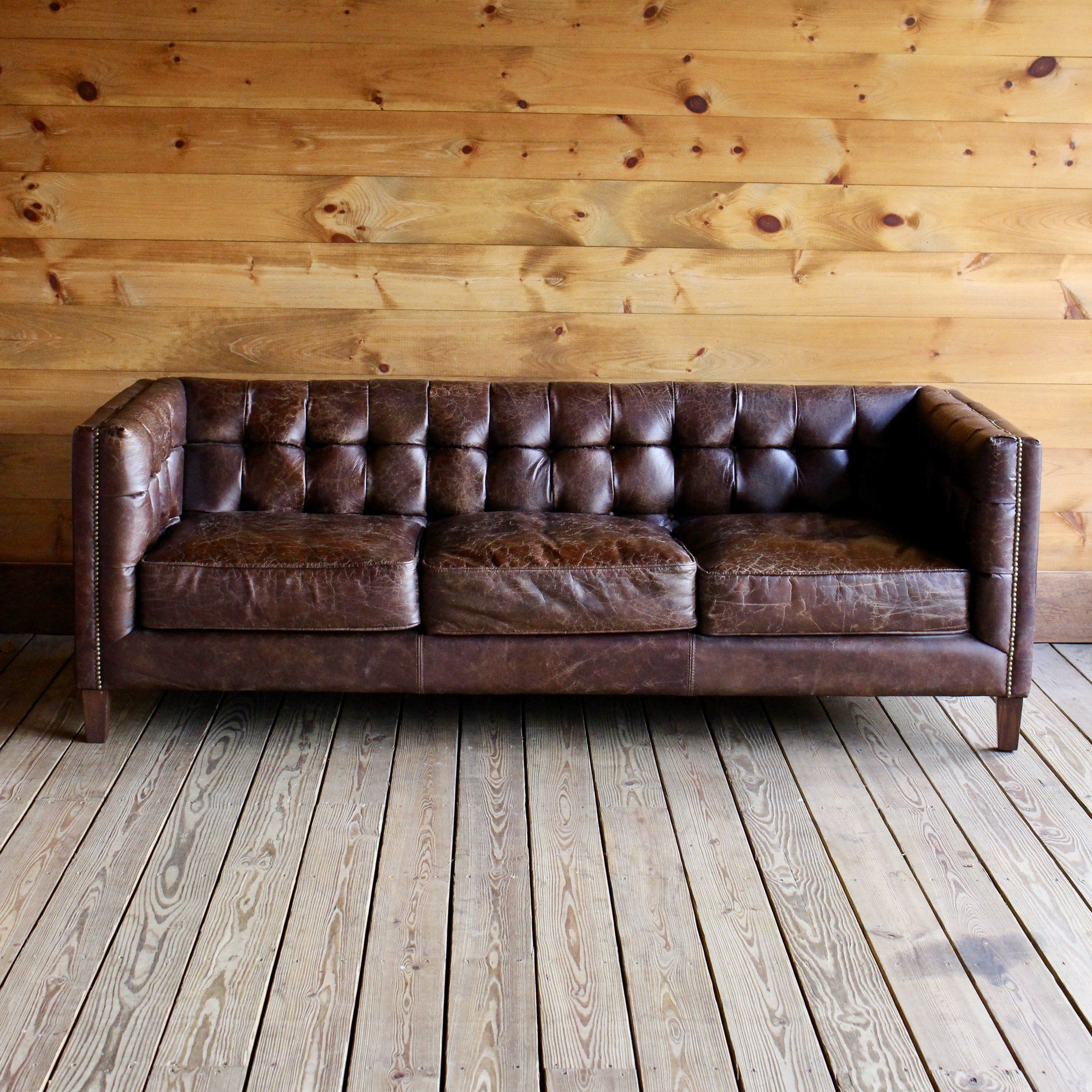Putnam Sofa Sofa Sectional Sofa Tufted Leather
