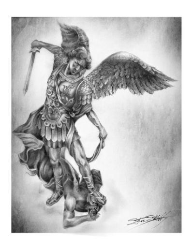 Pin By Anthony Bustos On Tattoo Archangel Tattoo St Michael