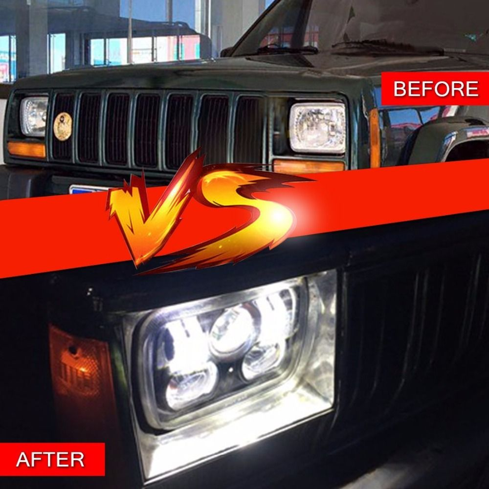 "5 x 7"" off road led headlights for jeep cherokee xj 