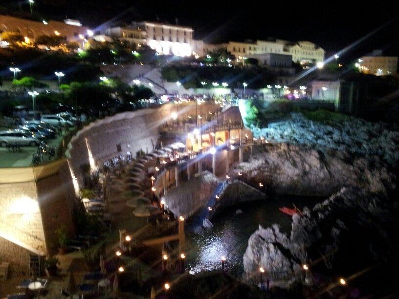 Santa Cesarea Terme - veduta notturna della piscina americana