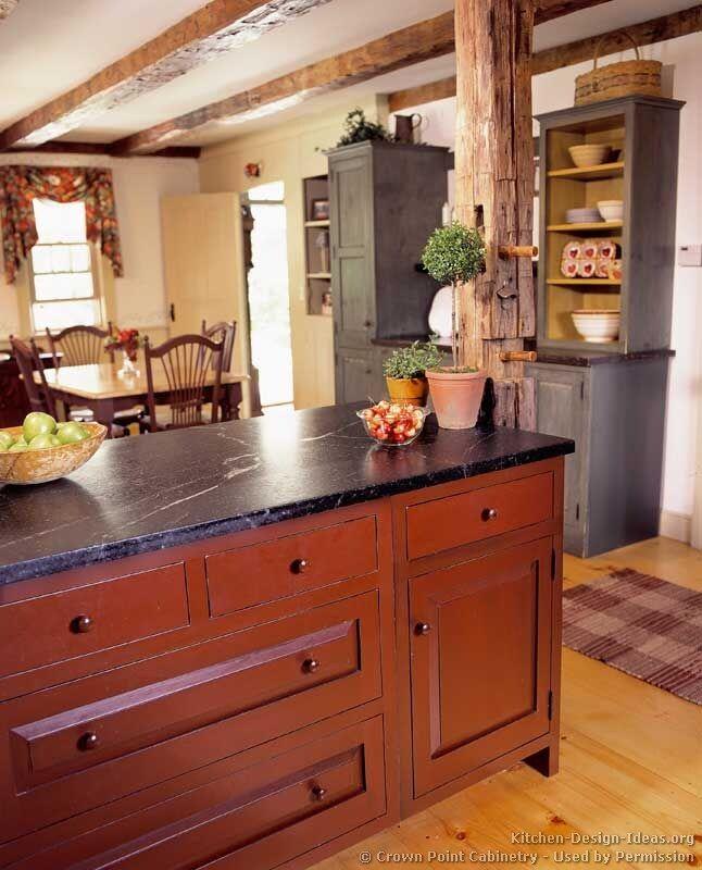 Barn Red Cabinets/soapstone Countertop