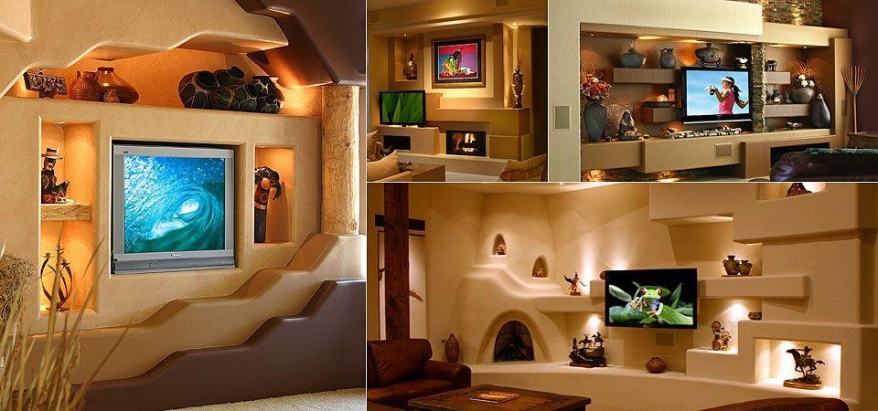 Custom Home Media Wall Design Portfolio Dagr Design