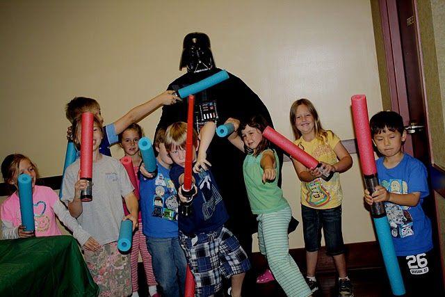Star Wars DIY Light Sabers #star #wars #birthday #party