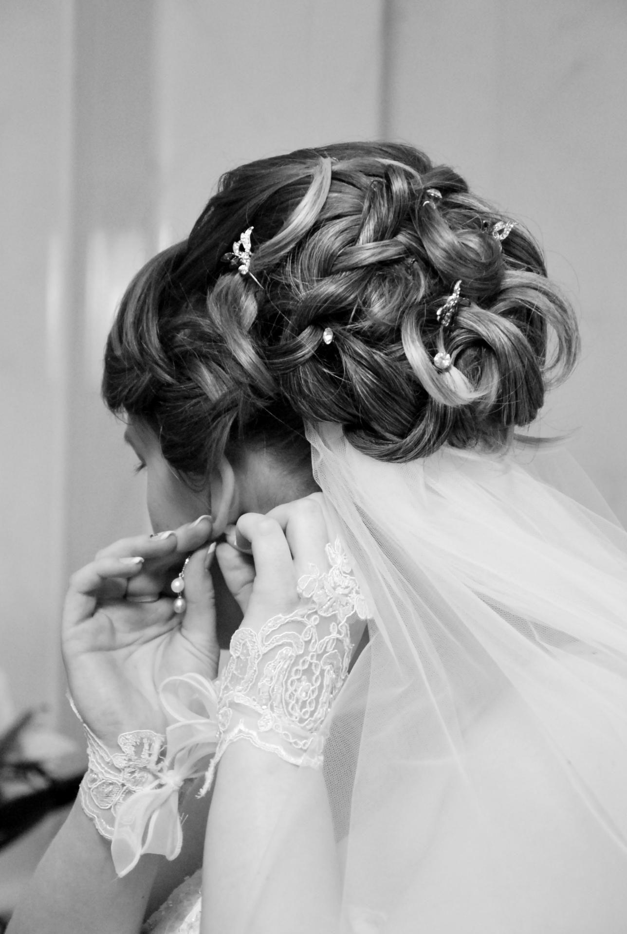Coiffure mariage chignon bas avec voile coiffures la mode de la saison 2017 blog photo - Coiffure a la mode 2017 ...