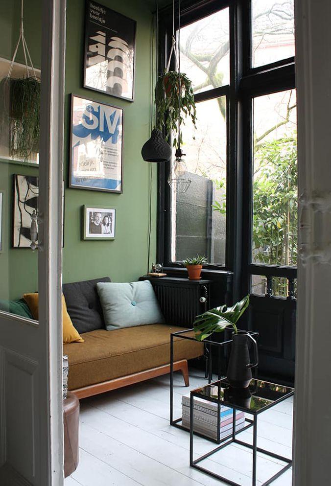 10x de mooiste interieurs met groene muren | Arch, Living rooms and ...
