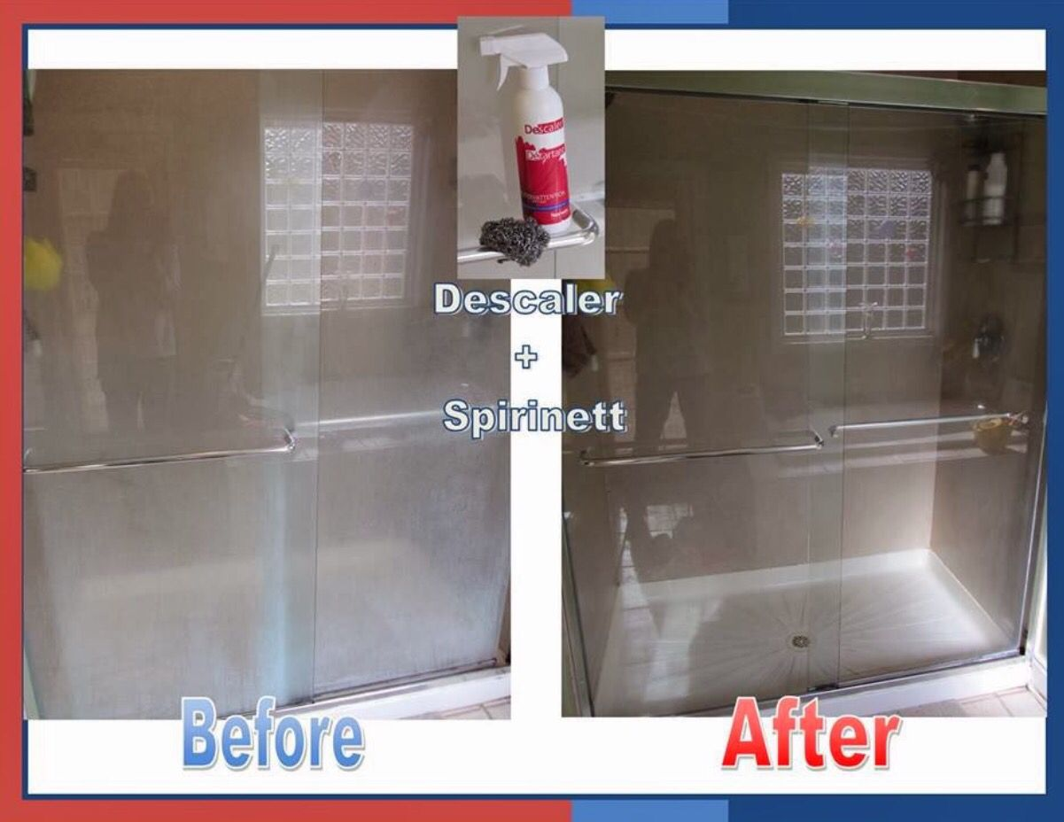 Norwex Descaler Shower Before And After Norwex Norwex Cleaning Norwex Consultant