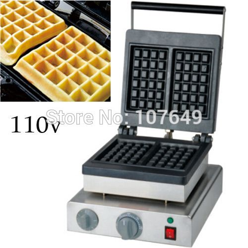 Free Shipping To Usa Canada Japan Mexico 110v Electric Commercial Use Non Stick Square Waffle Machine Maker Ir Waffle Machine Home Appliances Cooking Equipment