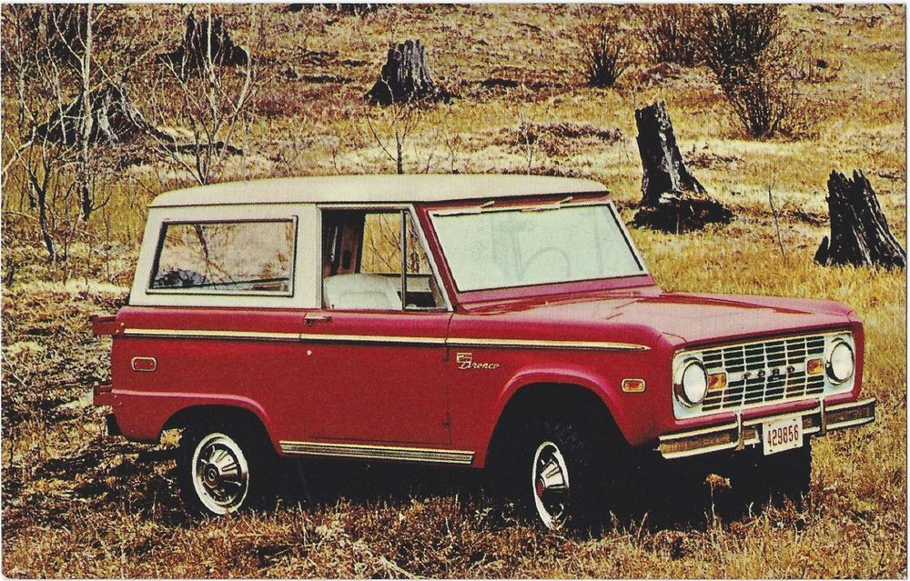 1970 Ford Bronco Red White Original Vintage Nos Dealer Promo