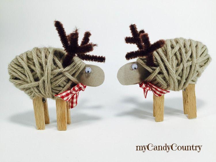 Lavoretti Di Natale Con Le Mollette Da Bucato.Renne Di Natale Fai Da Te Con Le Mollette Da Bucato Idee