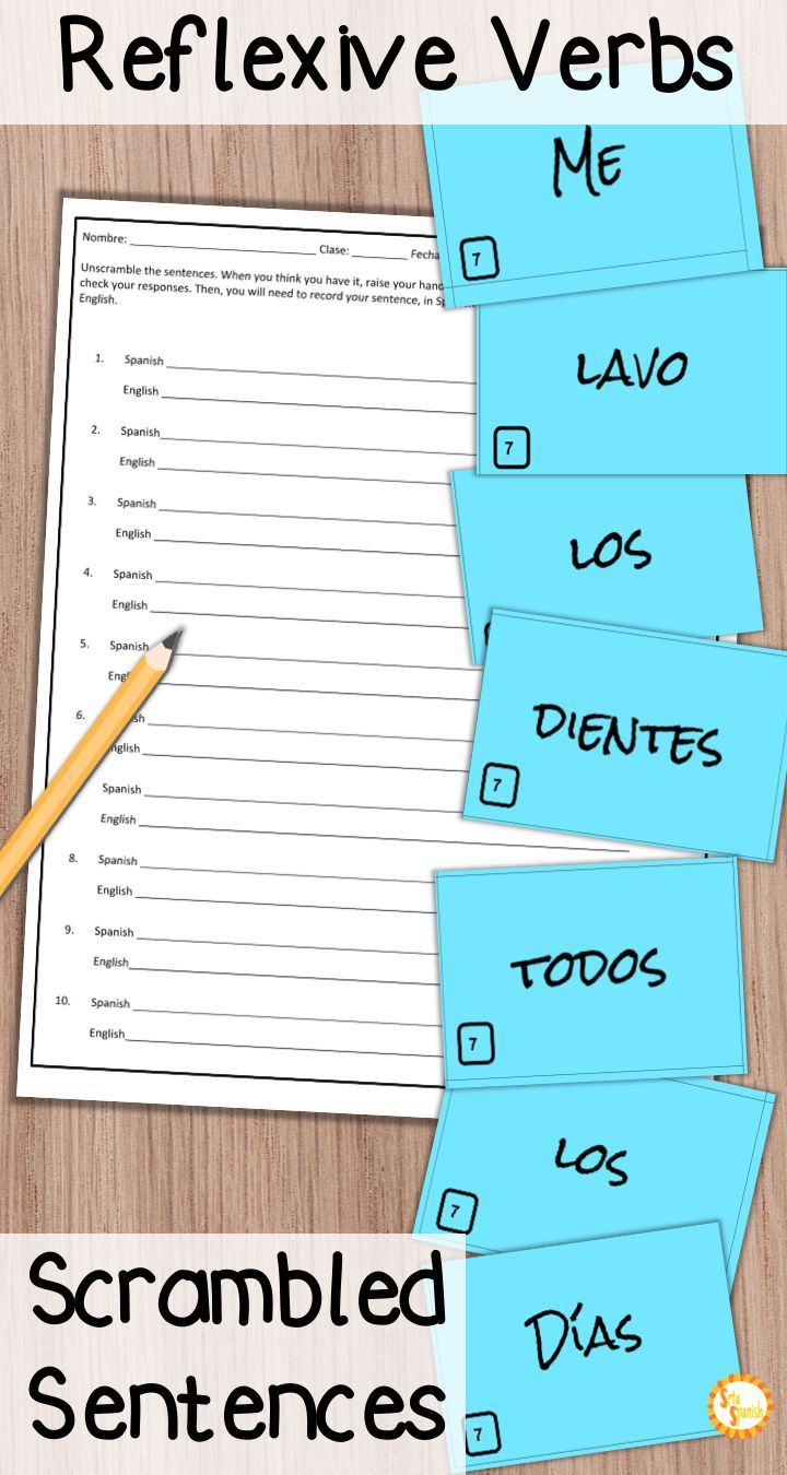 Are You Looking For A Fun Way To Practice Reflexive Verbs And Daily Routine In Your Spanish Classes Check Reflexive Verbs Sentence Activities Learning Spanish