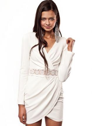 oooooo. Long Sleeved Tight Dress,  Dress, Long sleeve cocktail dress  tight wrap, Chic