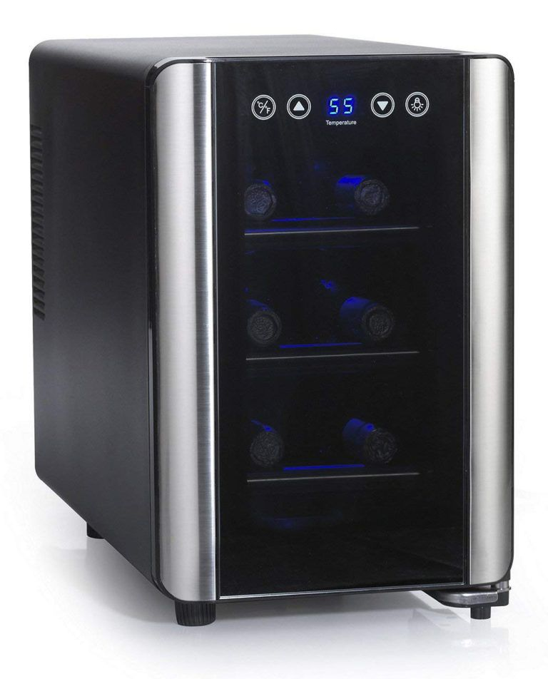 Wine Enthusiast Silent 6 Bottle Touchscreen Cooler Review Reviews Tasting