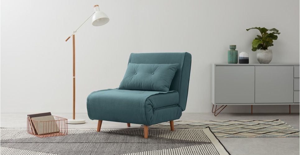 Haru Single Sofa Bed Sherbet Blue In 2019 New Flat Single