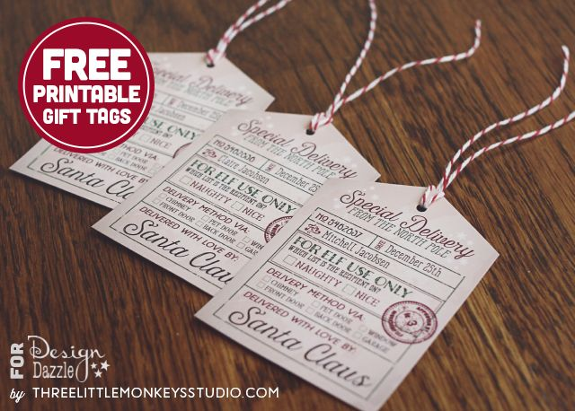 santa s special delivery gift tags holidays for everyday