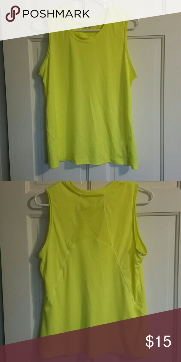 f6efc12e6ee9a8 🔸Sale🔸Neon yellow champion workout top - L Neon yellow champion workout  top - large. Fun bright color. Champion C9 Champion Tops Tank Tops