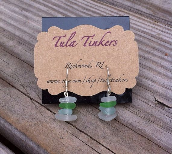 Genuine Surf Tumbled Sea Glass Sterling Silver by TulaTinkers, $12.00