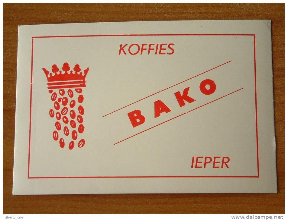 BAKO Koffies IEPER ( voir details zie foto ) !