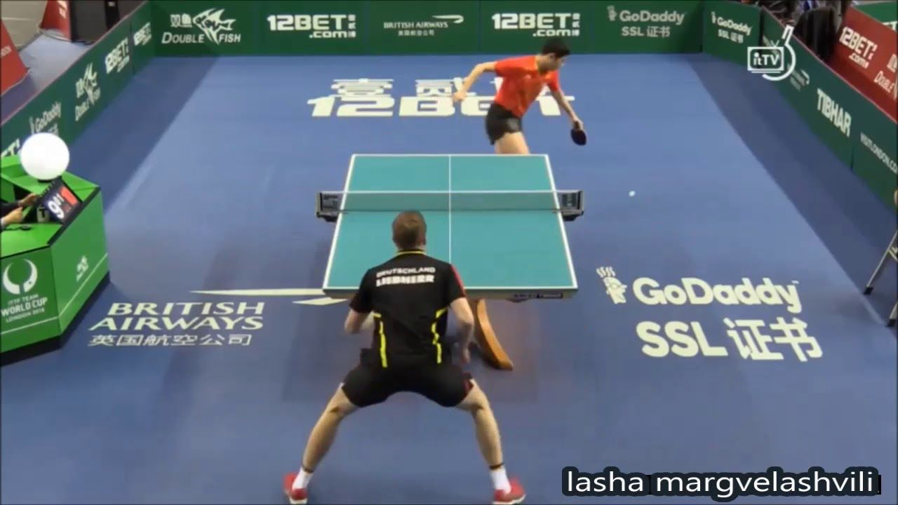 Xu Xin Vs Benedikt Duda World Team Cup 2018 Table Tennis Basketball Court Teams