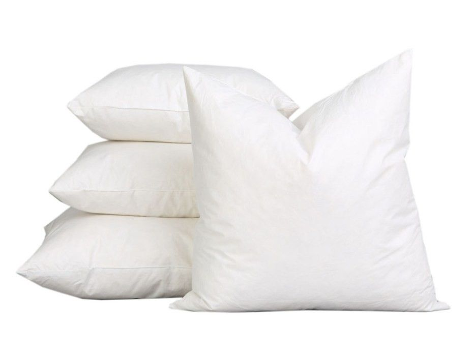 Square Duck Feather Cushion Inners 3 Sizes Pillows Bed Linen
