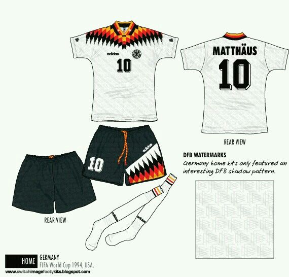 Germany Home Kit For The 1994 World Cup Finals